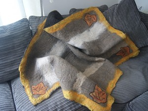 Blanket created using felt