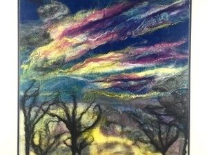 Windy landscape felted design
