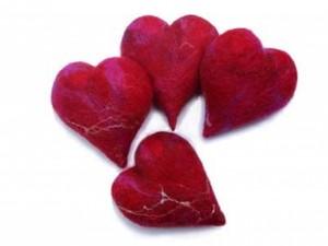Felt made hearts