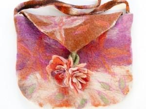 Felted satchel handbag