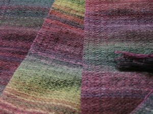 Colourful wool blanket