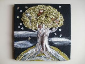 Textile Owl Tree