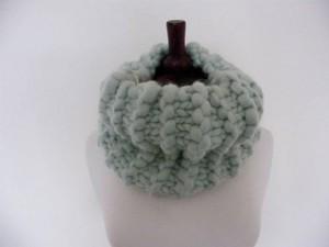 Grey jumbo yarn snood
