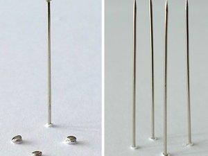 12. Dressmaking Pins Through Mountboard