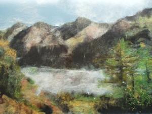Wool painted landscape