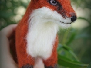 Red felted fox