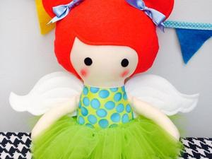 Felted angel doll