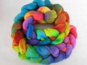 Multi-coloured jumbo yarn