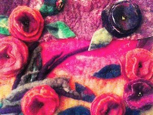Felted flower design