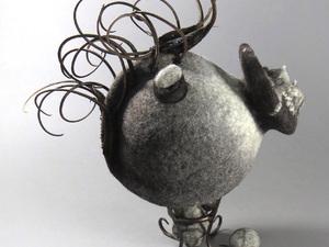 Seussian Finnish Wool Created Tea Pod