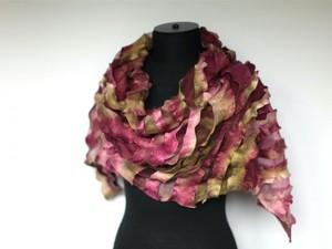 Purple felted scarf