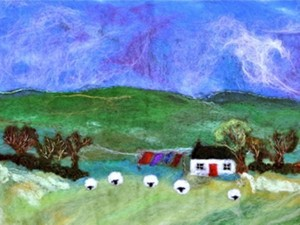 The felted village