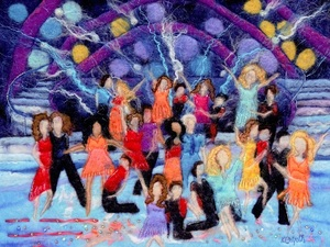 Strictly Come Dancing! – Hand Felted Merino Wool Tops, Mulberry Silk, Angelina Fibres, Japanese Seed Beads With Free Machine Embroidery And Hand Stitching.