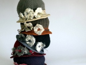 Selection of felted hats