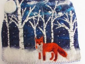Fox in the winter woods
