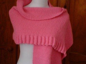 Pink wrap over wool scarf