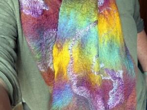 Silk merino scarf