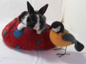 Bunnies & Bird