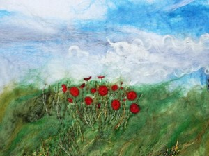 Red roses in the field