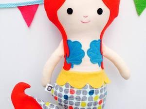 Needle felted mermaid doll