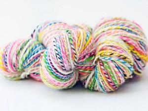 Multi-coloured ball of yarn