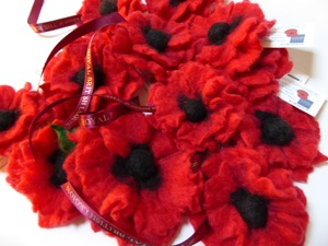 RBL Poppies In Merino Red Wool