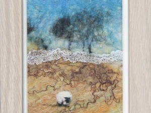 Sheep picture in frame