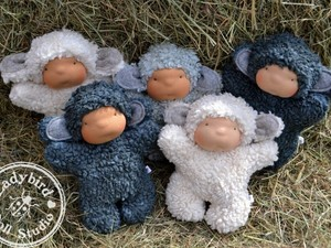 Various felted baby dolls