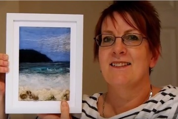 Tutorial - How to make a wet felted seascape