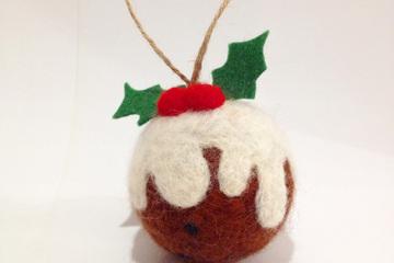 Needle Felted Christmas Pudding