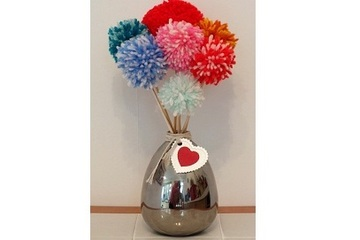 Mother's Day pom pom flower bouquet