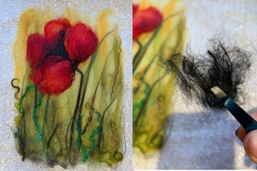 Felted Poppy Picture